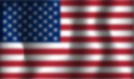 Unscharfe Vektor USA-Flagge vektor abbildung