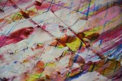 Unscharfe weiße gelbe blaue rosarote gelbe Lichter, wächserner Winterhintergrund Lizenzfreie Stockbilder