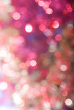 Unscharfe Weihnachtsgirlandeleuchten lizenzfreie stockfotos