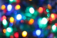 Unscharfe Weihnachtsleuchten Lizenzfreie Stockfotos