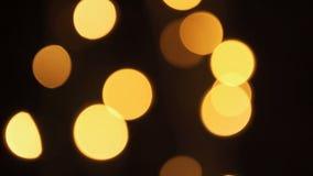 Unscharfe Weihnachtslichter nachts im Baum stock footage