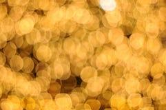 Unscharfer abstrakter goldener Hintergrund Lizenzfreies Stockbild