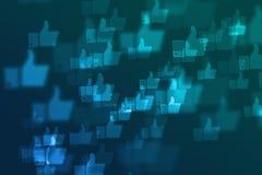 Unscharfer defocused Hintergrund des Sozialen Netzes Lizenzfreies Stockbild
