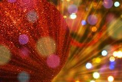 Unscharfer funkelnder Hintergrund des Weihnachtsbaums Stockfoto