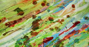 Unscharfer grüner roter schlammiger wächserner klarer Hintergrund in den klaren Farben Lizenzfreie Stockfotografie