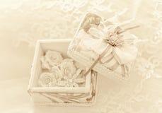 Unscharfer Heiratshintergrund der Weinlese Weiche Stockbilder
