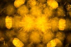 Unscharfer Hintergrund der gelben Lichter Lizenzfreie Stockfotografie