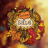 Unscharfer Hintergrund des Herbstes des Vektors dekorativer Verkauf Stockbild
