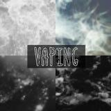 Unscharfer Hintergrund des Rauches Vektor Stockfotos