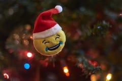 Unscharfer Hintergrund, Weihnachtsbaumdekoration Stockfotos