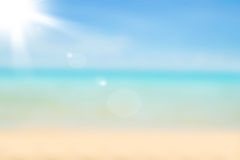 Unscharfer Naturhintergrund Sandy-Strandhintergrund mit Türkis Lizenzfreie Stockbilder