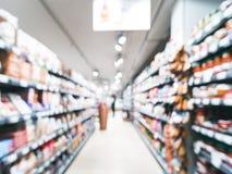 Unscharfer Supermarktgang Lizenzfreies Stockfoto