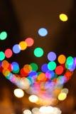 Unscharfer Weihnachtsleuchtehintergrund Stockfotos