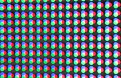 Unscharfes rotes blaues Grün LED Licht Stockbilder