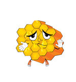 Unschuldige Bienenwabenkarikatur Lizenzfreie Stockbilder