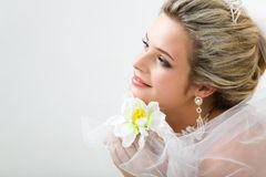 Unschuldige Braut Lizenzfreie Stockfotografie