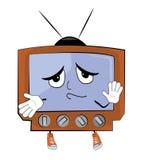 Unschuldige Fernsehkarikatur Stockfotografie