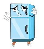 Unschuldige Kühlschrankkarikatur Lizenzfreies Stockfoto