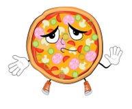 Unschuldige Pizzakarikatur Stockfoto
