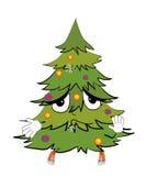 Unschuldige Weihnachtsbaumkarikatur Stockfotografie