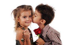 Unschuldiger Kuss Lizenzfreies Stockfoto