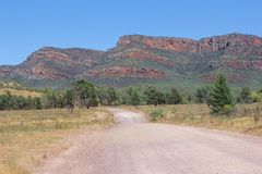 Unsealed road in Flinders Ranges National Park, South Australia Stock Image