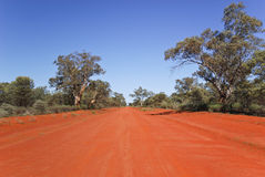 Unsealed road in Gundabooka National Park Royalty Free Stock Photos