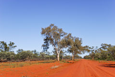 Unsealed road in Gundabooka National Park Stock Photo