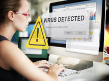Unsecured Virus Detected Hack Unsafe Concept Stock Photography