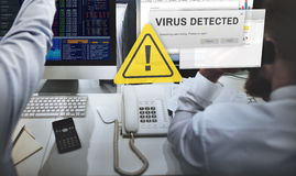 Unsecured Virus Detected Hack Unsafe Concept Stock Image