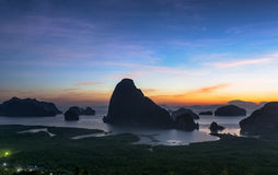 Unseen Island of Thailand. Beautiful island with sunrise. This is unseen place of the southern sea in Thailand stock photos