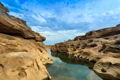 Unseen Thailand grand canyon sam pan bok at ubonratchathani Stock Photos