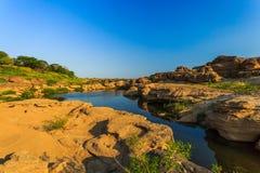Unseen Thailand grand canyon sam pan bok at ubonratchathani Royalty Free Stock Photo