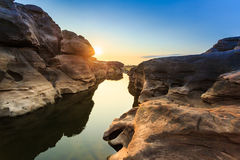 Unseen Thailand grand canyon sam pan bok at ubonratchathani Royalty Free Stock Image