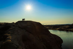 Unseen Thailand grand canyon sam pan bok at ubonratchathani Stock Photo