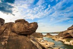 Unseen Thailand grand canyon sam pan bok at ubonratchathani Royalty Free Stock Photos