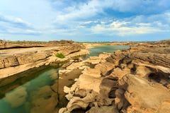 Unseen Thailand grand canyon sam pan bok at ubonratchathani Stock Image