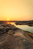 Unseen Thailand grand canyon sam pan bok at ubonratchathani Royalty Free Stock Photography