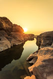 Unseen Thailand grand canyon sam pan bok at ubonratchathani Royalty Free Stock Photo