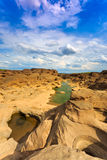 Unseen Thailand grand canyon sam pan bok at ubonratchathani Stock Image