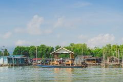 Unseen in Thailand. Scenery of Fishing village The No-Land Village at Bang Chan,. Khlung, Chanthaburi, Thailand royalty free stock image