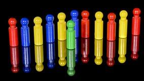 Unsegregated barwioni czopy w linii Zdjęcie Stock
