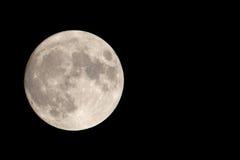 Unser Mond mit negativem Platz Stockbilder