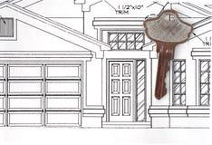 Unser neues Haus Lizenzfreies Stockbild