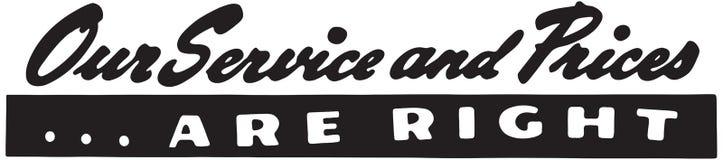 Unser Service und Preise stock abbildung