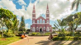 Unsere Dame des Mercedes-Kirche Grecia-Dorfs Costa Rica Lizenzfreie Stockbilder