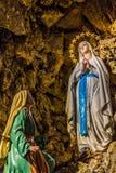 Unsere Dame von Lourdes Stockbilder
