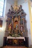 Unsere Dame von Lourdes-Altar in der Kirche von St. Catherine von Alexandria in Krapina, Kroatien Stockfoto