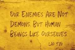 Unsere Feinde Lao Tzu stockfoto