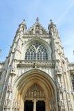 Unsere gesegnete Dame der Sablon-Kirche in Brüssel Stockbilder